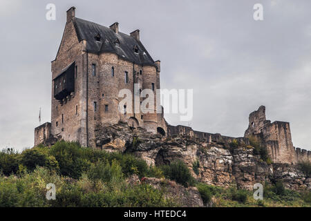Castle of Larochette in Luxembourg. - Stock Photo