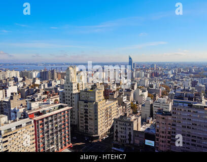 Cityscape viewed from the City Hall, Intendencia de Montevideo, Montevideo, Uruguay - Stock Photo