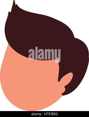 Man head faceless - Stock Photo