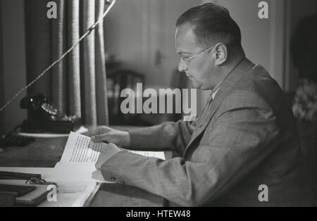 1930s, Konrad Henlein, the leader of the Sudeten German movement and the Czechoslovkian political party, the SdP, - Stock Photo