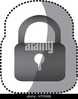 grayscale lock close icon - Stock Photo