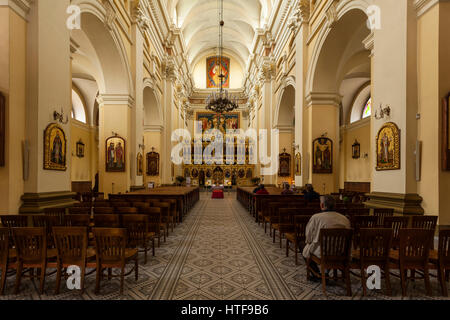 St. Isaac's Cathedral. John the Baptist - the church of the Greek Catholic in Przemysl, Poland. - Stock Photo