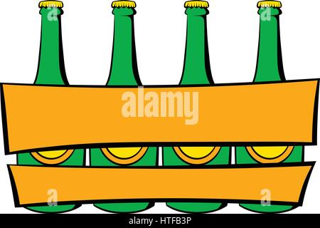 Beer wooden box icon in icon in cartoon style isolated vector illustration - Stock Photo