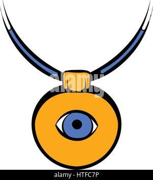 Amulet against the evil eye icon, icon cartoon - Stock Photo