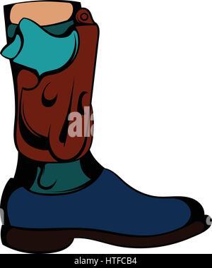 Boot icon cartoon - Stock Photo