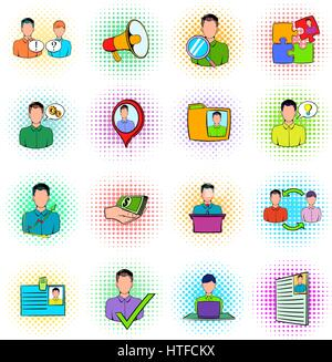Human resources icons set - Stock Photo