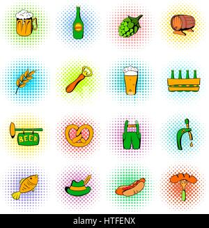 Oktoberfest set icons - Stock Photo