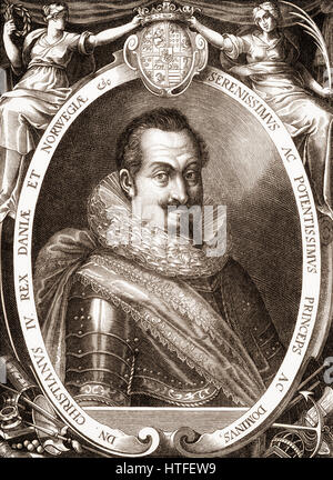 Christian IV, 1577 - 1648, King of Denmark and Norway - Stock Photo
