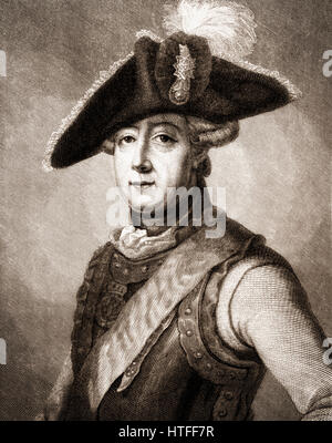 Friedrich Wilhelm Freiherr von Seydlitz, 1721-1773, a Prussian officer, cavalry general - Stock Photo