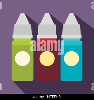 Refill bottles icon, flat style - Stock Photo