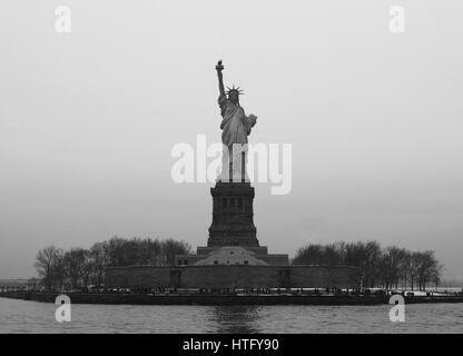 Statue of Liberty, Liberty Island - Stock Photo