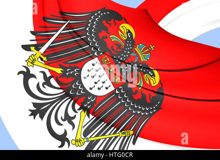 3D Flag of Cologne, Germany. 3D Illustration. - Stock Photo