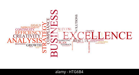 Word cloud for business, analysis and strategy - Stock Photo