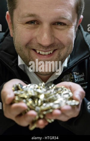 Llantrisant, South Wales, UK. 14th March, 2017. Scott Kuperus, 40, Currency Security and Technical Expert at the - Stock Photo