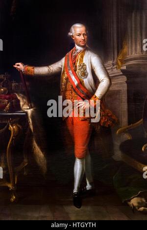 Leopold II (1747-1792), Holy Roman Emperor, King of Hungary and Bohemia, Archduke of Austria and Grand Duke of Tuscany. - Stock Photo