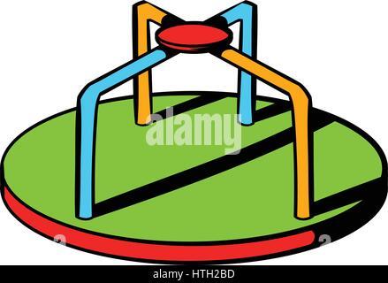 Colorful merry-go-round icon, icon cartoon - Stock Photo
