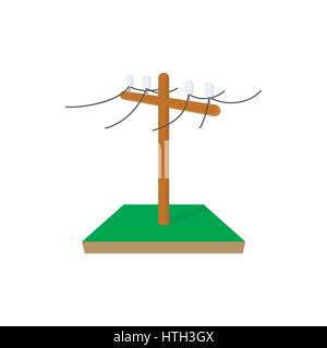 Power pole icon, cartoon style  - Stock Photo