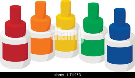 Bottles of flavor for electronic cigarette icon - Stock Photo