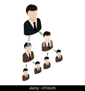 Office Hierarchy. Business pyramid. company structure. Boss ...