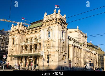 National Theatre in Belgrade - Serbia - Stock Photo