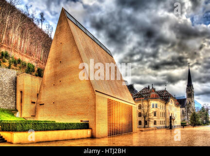 The Landtag (Parliament) of the Principality of Liechtenstein - Stock Photo
