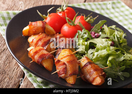 potatoes rolled bacon