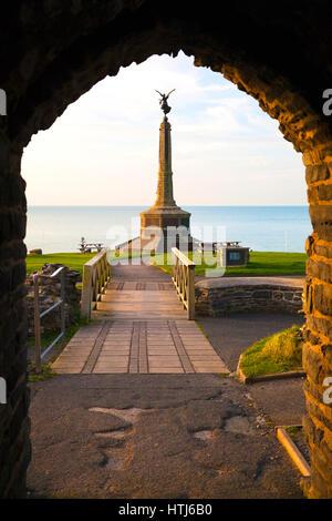 War Memorial, Aberystwyth, Ceredigion, West Wales, UK - Stock Photo