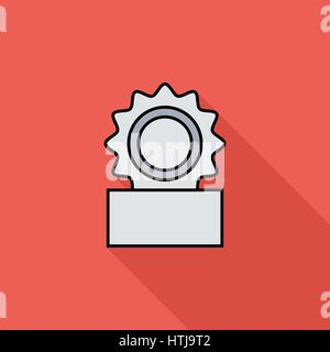 Canned icon. Flat vector related icon with long shadow for web and mobile applications. It can be used as - logo, - Stock Photo