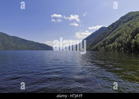 Russia, Siberia, Altai, a view of the waters of Lake Teletskoye