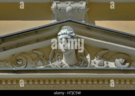 Decorations at building at Kurzy Targ passage near Rynek (Market Square) in Wroclaw, Lower Silesia, Poland - Stock Photo
