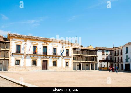 Main Square. Tembleque, Toledo province, Castilla La Mancha, Spain. - Stock Photo