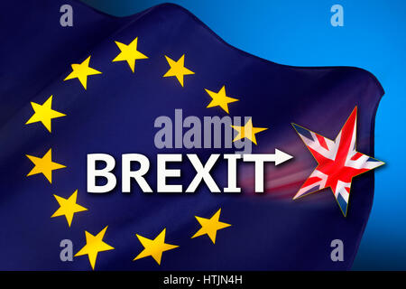 BREXIT - British withdrawal from the European Union. - Stock Photo