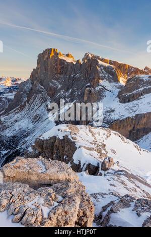 The Pale di San Martino massif. The Dolomites - Stock Photo