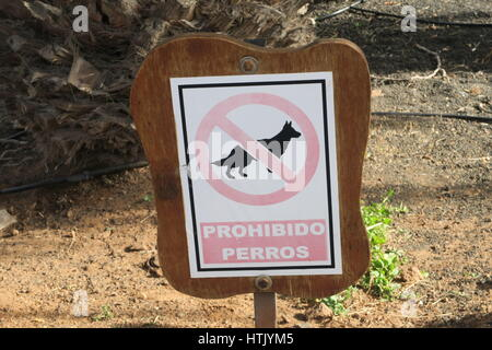 No dogs allowed on the beach - Stock Photo