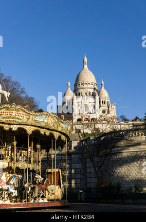 The Basilica of the Sacred Heart of Paris (1875-1914), France. - Stock Photo