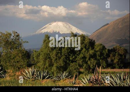 Cotacachi, Ecuador. 15th Oct, 2016. View of the 5900-metre high volcano Cotopaxi in the the Ecuadorian north Andes. - Stock Photo