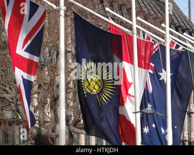 Westminister Abbey, London, UK. 13th Mar, 2017. The Commonwealth Service is held at Westminster Abbey at 3.15pm - Stock Photo