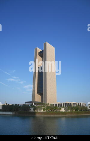Four Seasons Hotel, Bahrain Bay waterfront development, Manama, Kingdom of Bahrain - Stock Photo