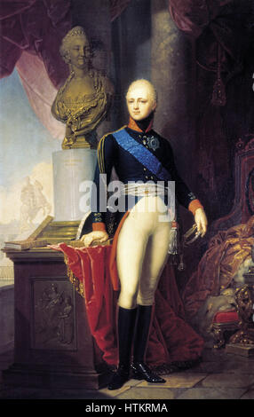 Portrait of  Grand Duke Alexander Pavlovich by V.Borovikovsky  1800 - Stock Photo