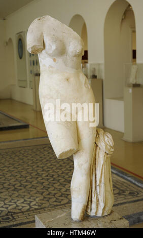 Goddess Venus. Roman statue. Second 4th of 2nd century AD. Hadrian era. Spain. National Archaeological Museum. Tarragona. - Stock Photo