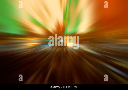 Radial colored rays, abstract blurred background - Stock Photo