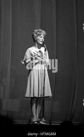Petula Clark performing at the Paris Olympia Hall in April 1965. - Stock Photo
