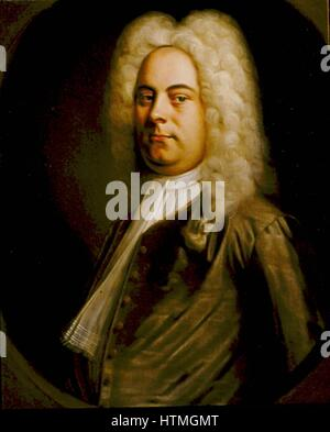 George Frederic Handel (1685-1759) German-born composer who settled in England. Portrait of 1726-1728 attributed - Stock Photo