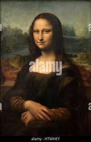 Leonardo Da Vinci 'Mona Lisa' 1503-1506 - Stock Photo