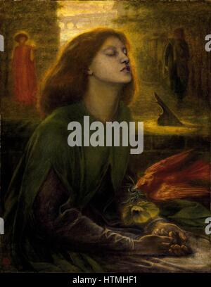 Dante Gabriel Rossetti (artist), 'Beata Beatrix' Painted 1864-1870 - Stock Photo