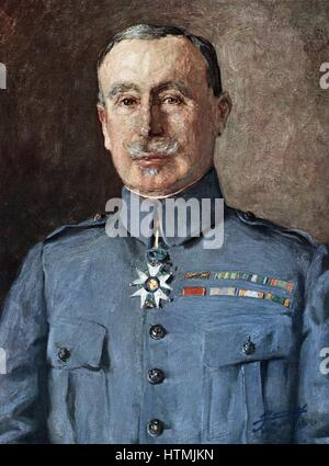 Robert Nivelle (1857-1924) French general. Commander-in-Chief December 1916 to May 1917. Superceded by Petain - Stock Photo