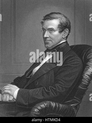Charles Wheatstone (1802-1875) British physicist. Electrical resistances. Electric telegraph. Concertina - Stock Photo