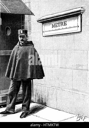 Standard Metre in the Petit Luxembourg, Paris. Set up when Metrification introduced by the French National Assembly - Stock Photo
