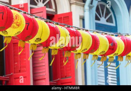 Lanterns, Chinatown, Singapore - Stock Photo