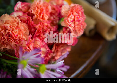 Flowers arranged in florist shop - Stock Photo